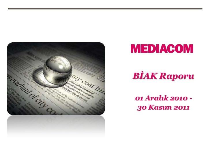 BİAK Raporu01 Aralık 2010 -30 Kasım 2011