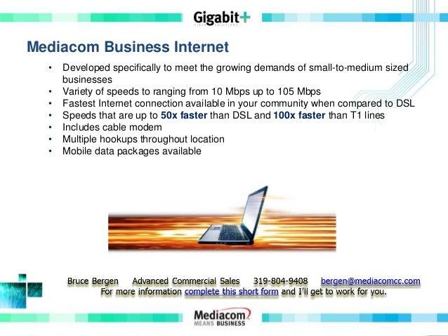 Mediacom business internet and more