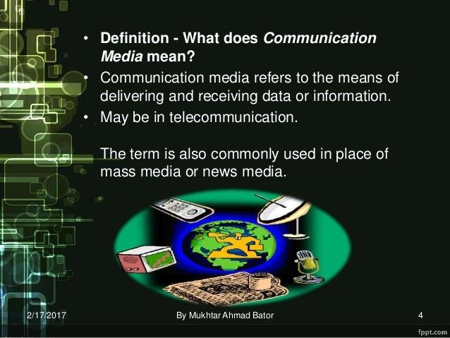 Media Communication By Bator