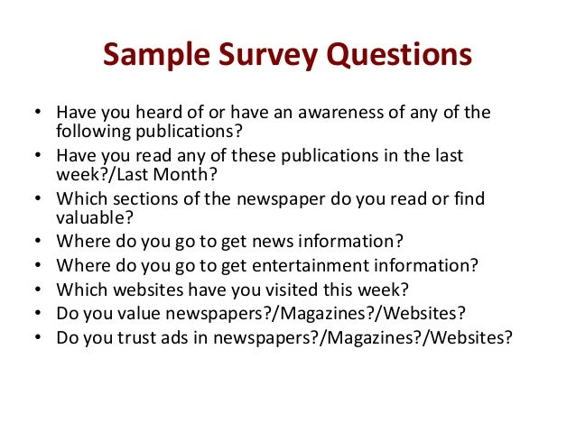Media consumption survey – Student Survey Template