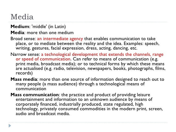 Media Culture And Identity