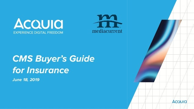 CMS Buyer's Guide for Insurance June 18, 2019