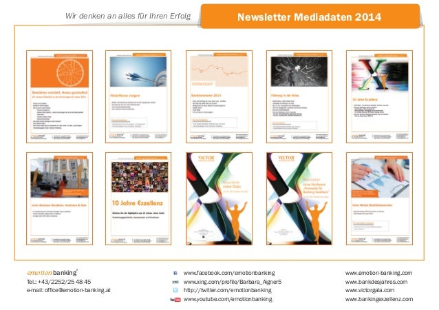 Wir denken an alles für Ihren Erfolg  emotion banking  ®  Tel.: +43/2252/25 48 45 e-mail: office@emotion-banking.at  Newsl...
