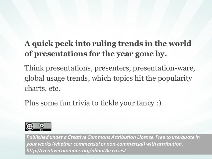 Who spoke how much?    . the average number of slides in a presentation                                           ...