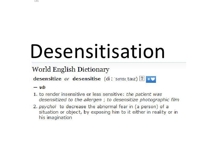 define desensitization