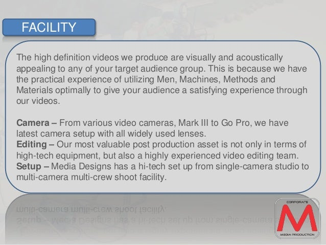 Media designs introduction - corporate video production