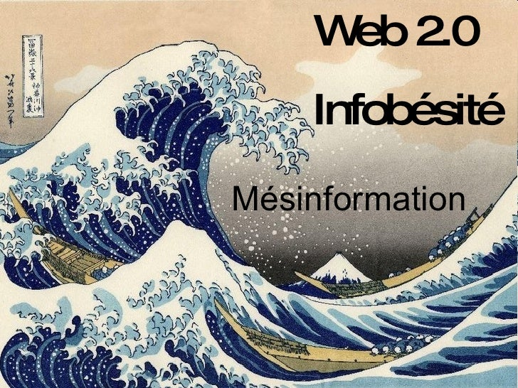 Web 2.0 Infobésité Mésinformation