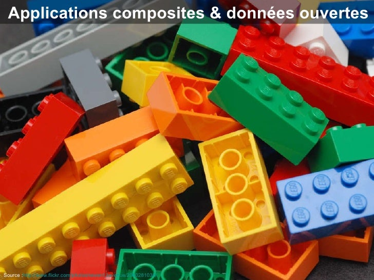 Applications composites & données ouvertes Source : http://www.flickr.com/photos/seven13avenue/2080281038/