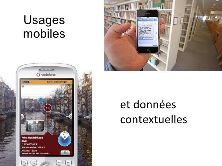 Usages mobiles et données contextuelles