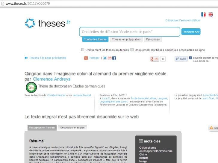 Comment faire pour récupérer le RDF           de theses.fr• Moissonnage  – OAI-PMH  – Sitemaps + RDF• Dump  – Extraction d...