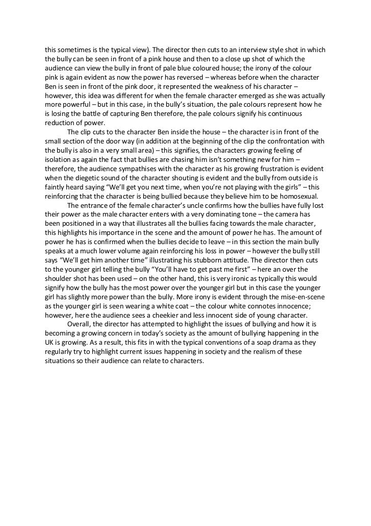 school bullying report essay