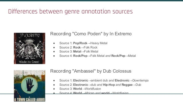 The MediaEval 2017 AcousticBrainz Genre Task: Content-based Music Genre Recognition from Multiple Sources