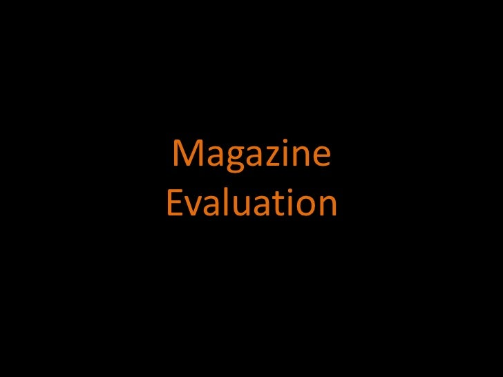 MagazineEvaluation<br />