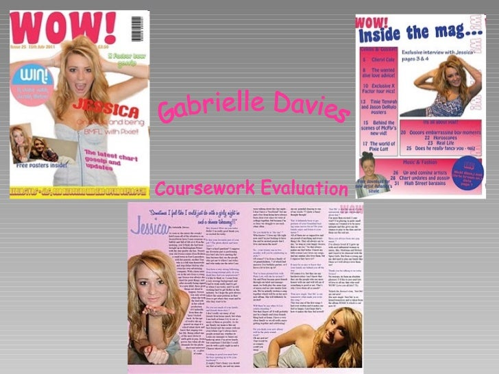 Gabrielle Davies Coursework Evaluation