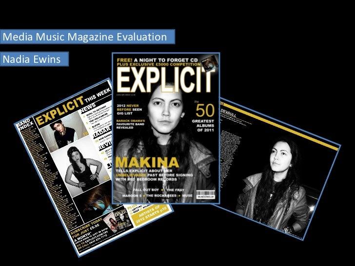 Media Music Magazine Evaluation Nadia Ewins