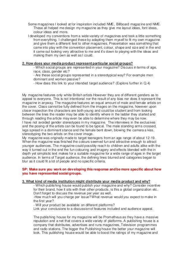 Media evaluation Slide 2
