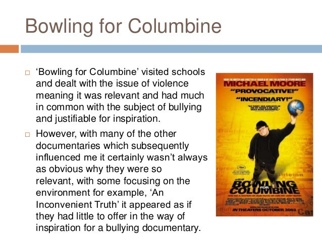 bowling for columbine bias essay Bowling for columbine bias essay dec 21, 2002 bowling for columbine is moore s essay on america s love affair with some of the tabloid media outlets he accuses of.