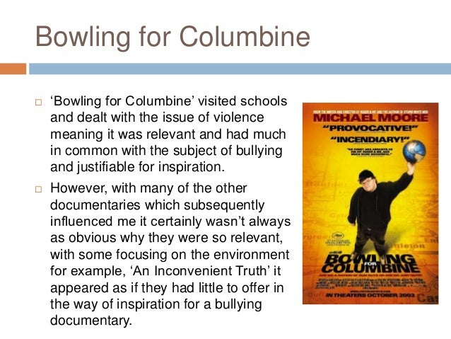 evaluation of bowling for columbine 2016-4-27 ebscohost serves thousands of libraries with premium essays, articles and other content including presentation and representation in michael moore's bowling for columbine.