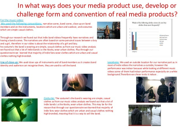 In what ways does your media product use, develop or               challenge form and convention of real media products?Fo...