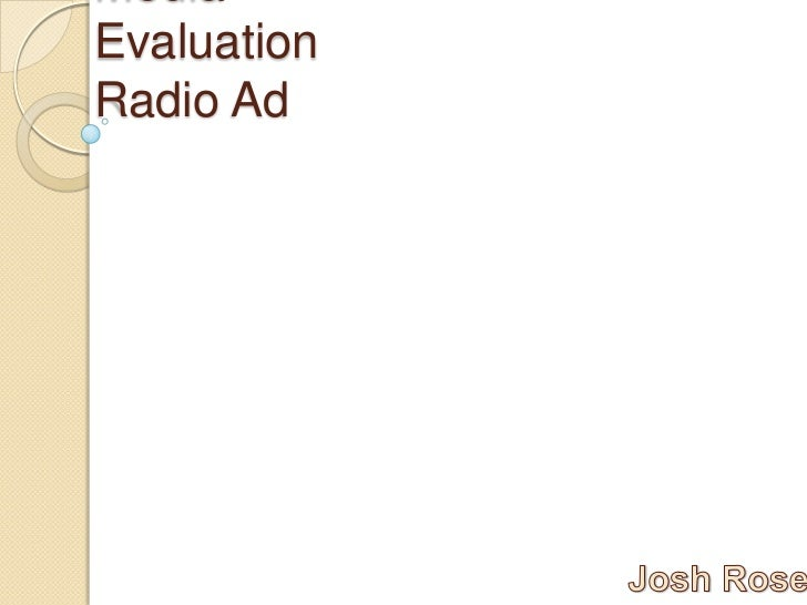 MediaEvaluationRadio Ad