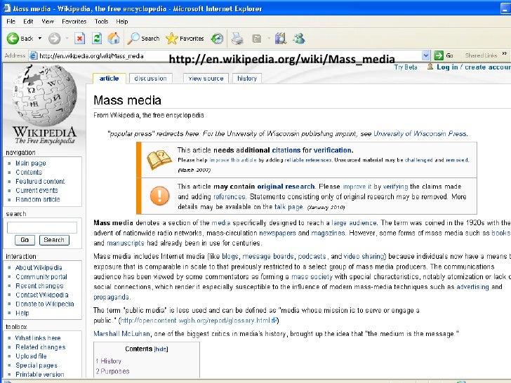 http://en.wikipedia.org/wiki/Mass_media