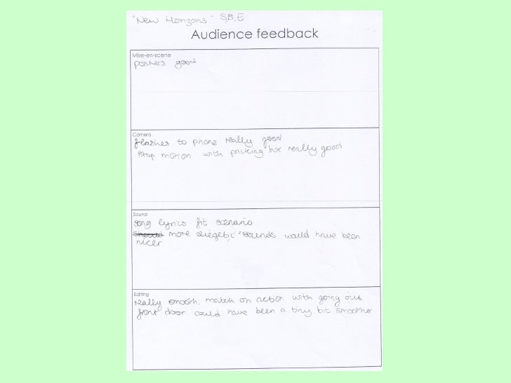 There were two moderators there, that were previous media students who gave us back some important feedback that will help...