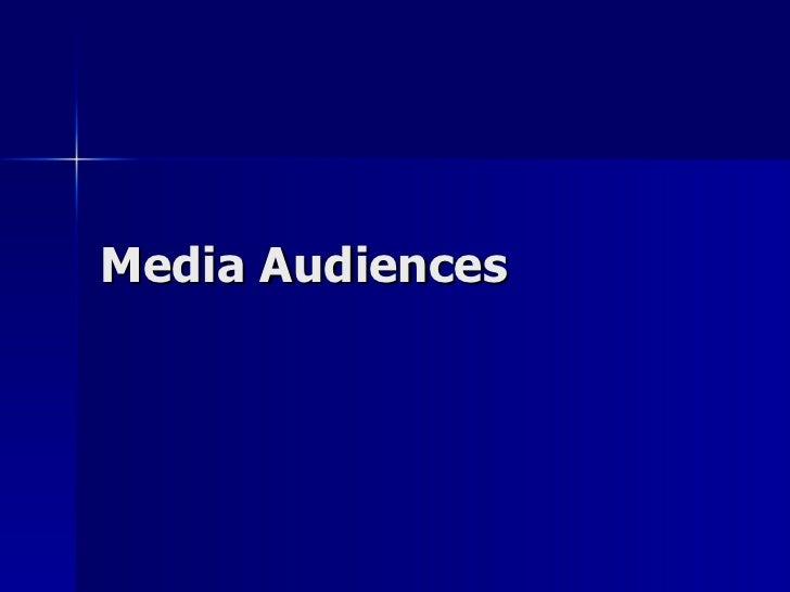 Media Audiences