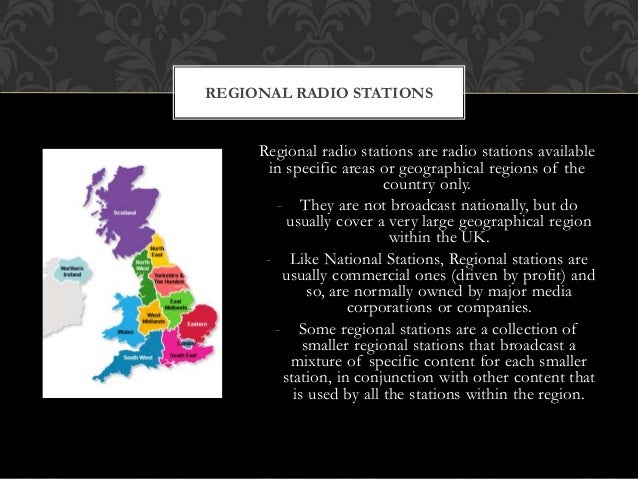 Regional radio stations are radio stations available in specific areas or geographical regions of the country only. - They...