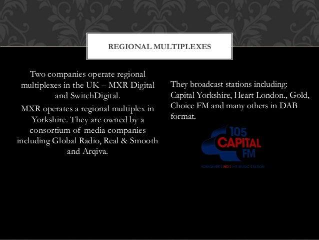 Two companies operate regional multiplexes in the UK – MXR Digital and SwitchDigital. MXR operates a regional multiplex in...