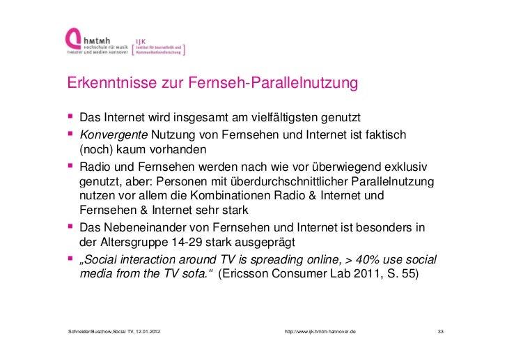 Erkenntnisse zur Fernseh-Parallelnutzung Das Internet wird insgesamt am vielfältigsten genutzt Konvergente Nutzung von F...