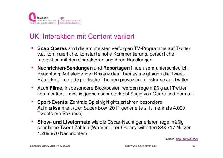 UK: Interaktion mit Content variiert Soap Operas sind die am meisten verfolgten TV-Programme auf Twitter,       v.a. kont...