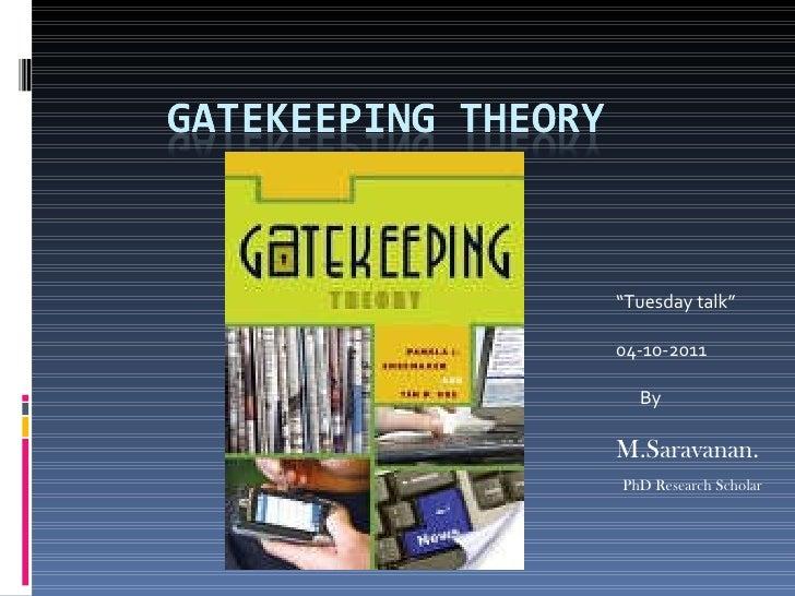 """ Tuesday talk"" 04-10-2011 By M.Saravanan. PhD Research Scholar"