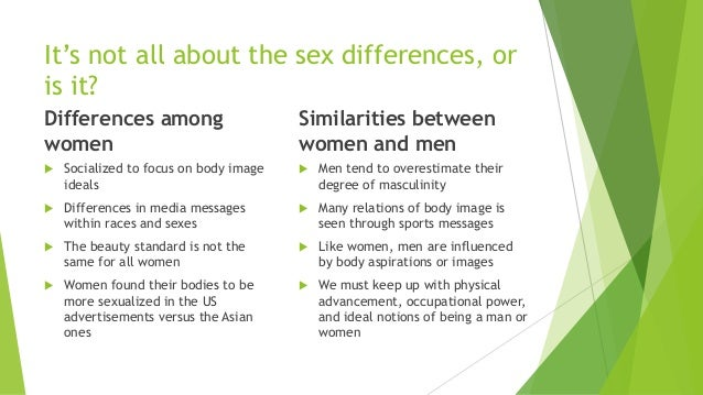 Similarities And Differences Between Men And Women