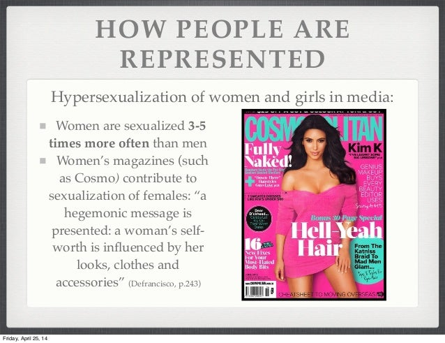 Sexualisation of women in the media statistics
