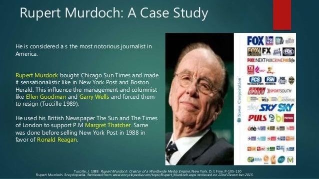 Rupert Murdoch - Media Monopoly