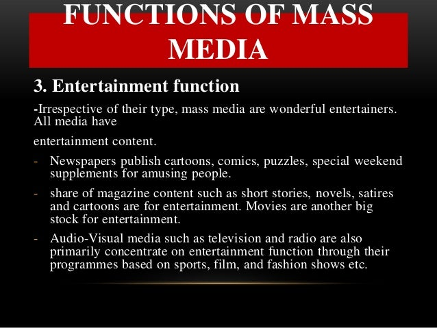 3 functions of media