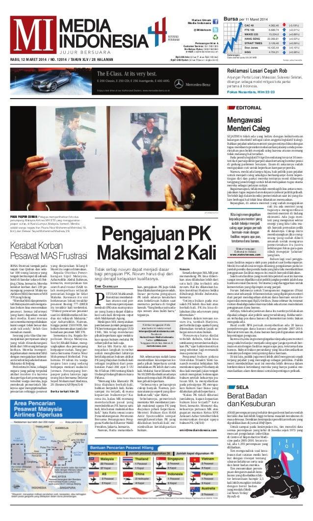 P UTUSAN Mahkamah Konstitusi membatal- kan aturan soal per- mohonan peninjauan kembali (PK) atas suatu putus- an yang hany...