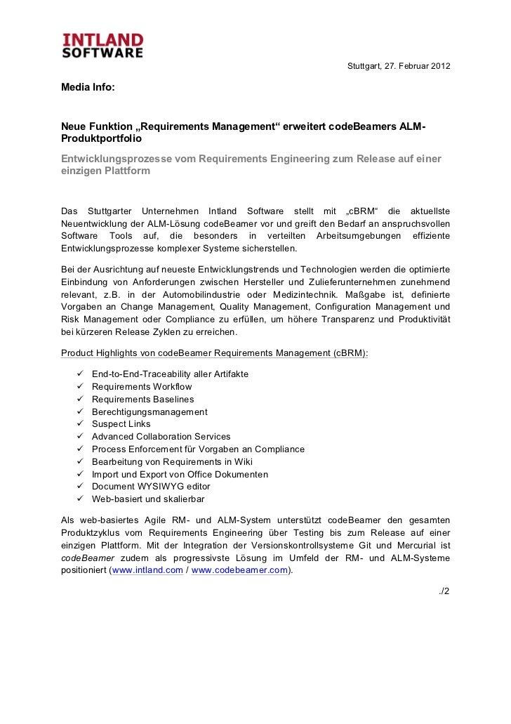"Stuttgart, 27. Februar 2012Media Info:Neue Funktion ""Req..."