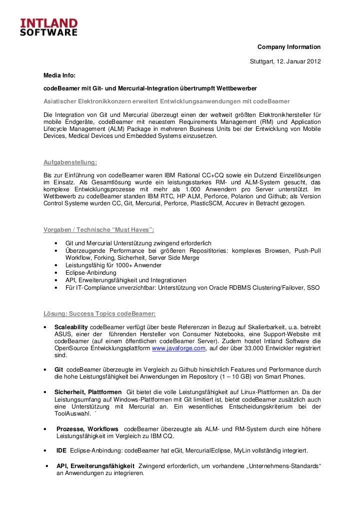 Company Information                                                                          Stuttgart, 12. Januar 2012Med...