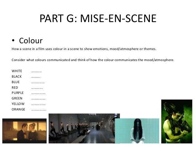 Media key terms mise en scene for Mise en scene photo