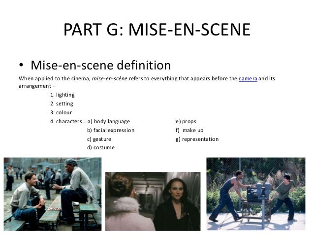 mis en scene When you first start to get into film making you might learn about mise en scene actually, understanding this concept can be quite.