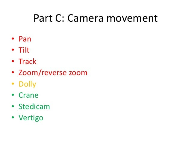 Media key terms revision slides shots angles movement composition