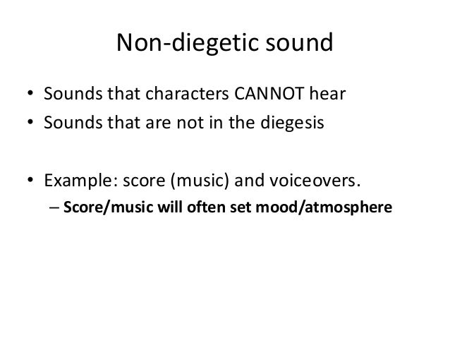 define diegetic sound