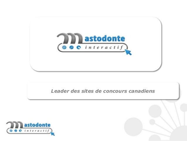 Leader des sites de concours canadiens