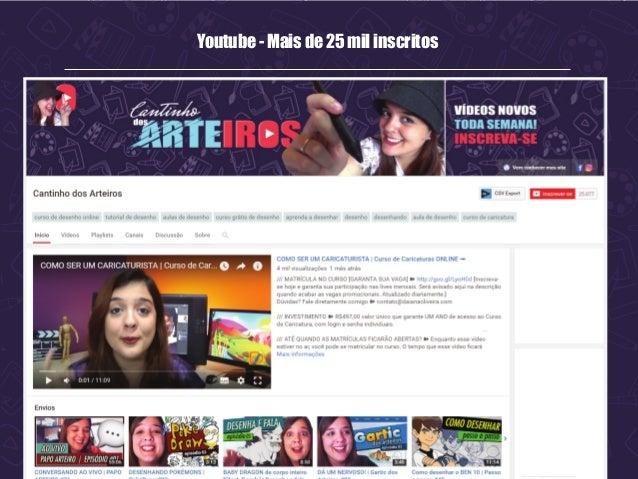Youtube - Mais de 25 mil inscritos