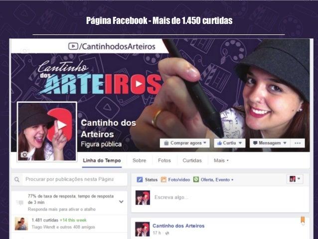 Página Facebook - Mais de 1.450 curtidas