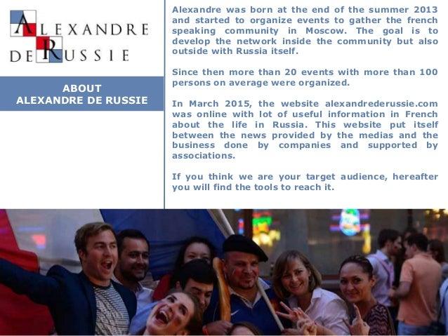 Media kit Alexandre de Russie V2.0 Slide 2