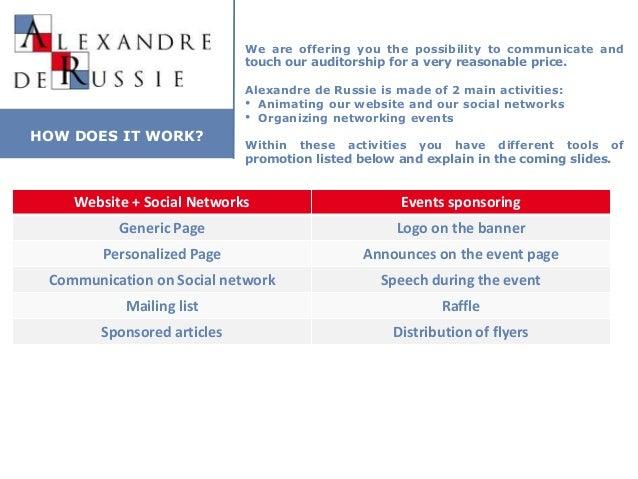 Media kit Alexandre de Russie V2.0 Slide 3