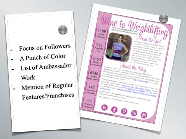 - Focus on Followers - A Punch of Color - List of Ambassador Work - Mention of Regular Features/Franchises s s