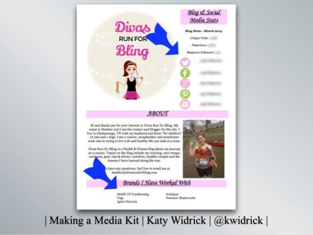   Making a Media Kit   Katy Widrick   @kwidrick  